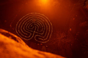 Lichterlabyrinth am 1. Advent