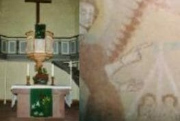 Altar und Fresken ev. Kirche Ostheim