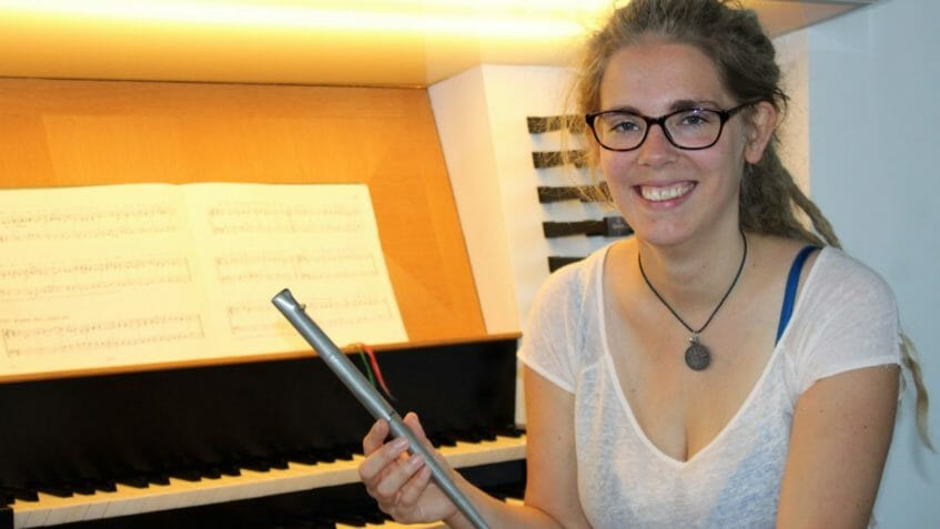 Organistin Paula Schneider